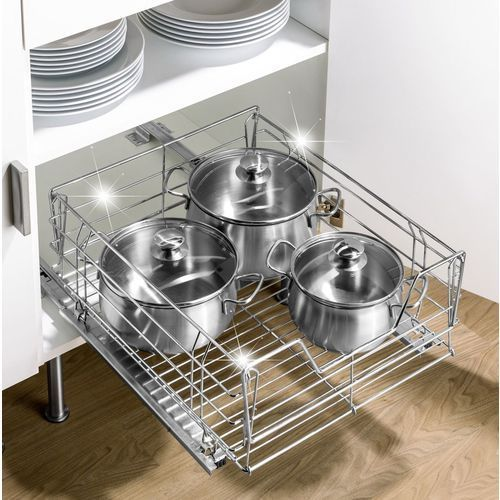 Wenko Metalowy koszyk pod blat kuchenny, organizer na przybory kuchenne,