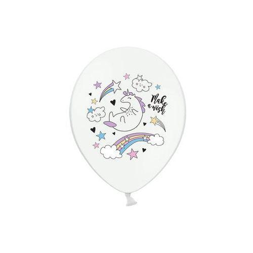 Balony pastelowe jednorożec - 30 cm - 5 szt. marki Party deco