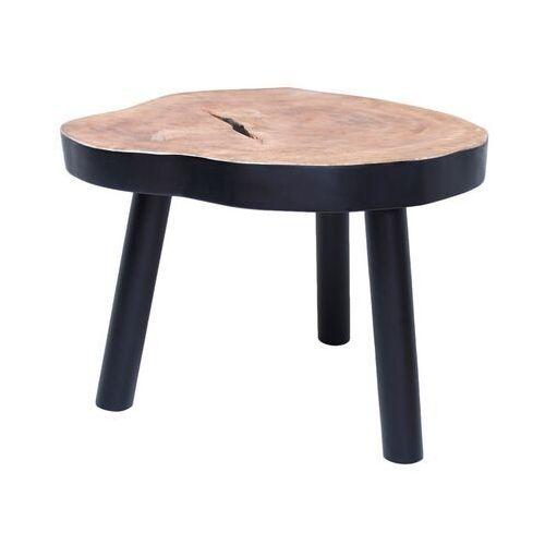 HKliving Stolik w kształcie pnia drewna L czarny HAP6205, HAP6205