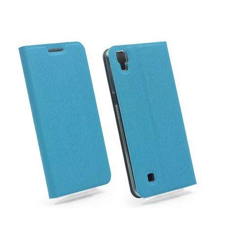 LG X Power - etui na telefon Flex Book - niebieski, kolor niebieski