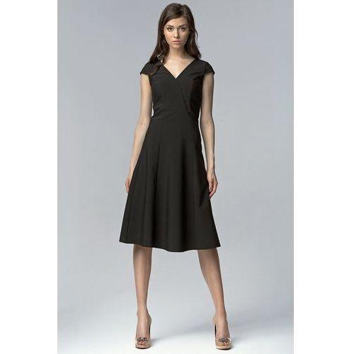 Sukienka bez rękawów MIDI - czarny - S60