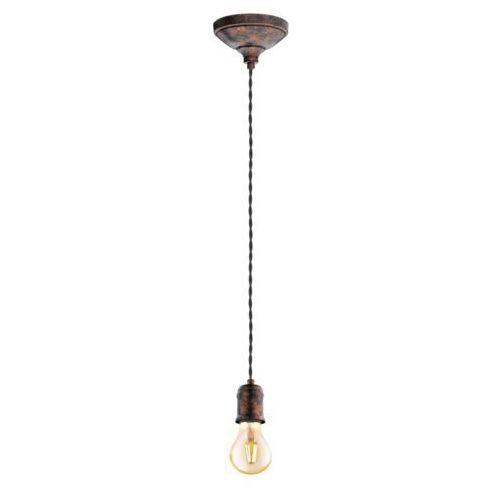 Eglo Lampa wisząca yorth 32535 zwis 1x60w e27 miedziany