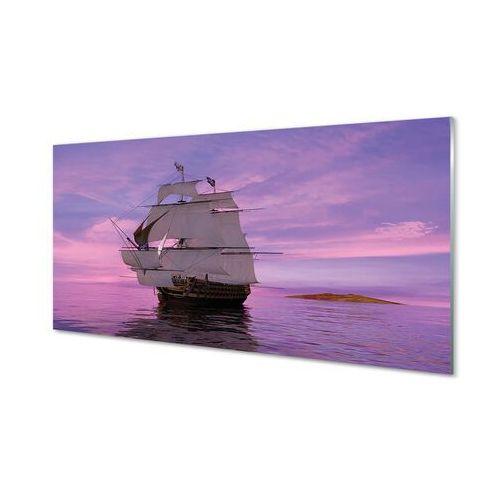 Obrazy akrylowe fioletowe niebo statek morze marki Tulup.pl
