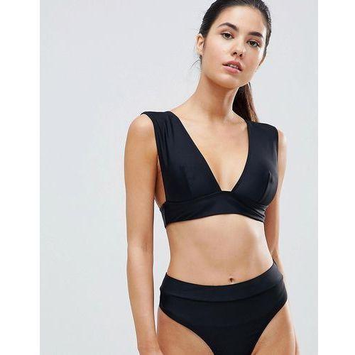 Missguided mix & match super plunge bikini top - black
