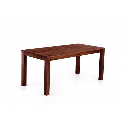 Beliani Stylowy stół dębowy brązowy 150x90x75 cm maxima
