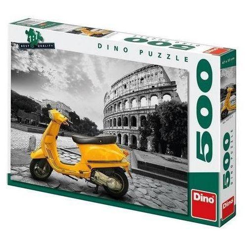 Dino toys Puzzle 500 skuter przed koloseum dino