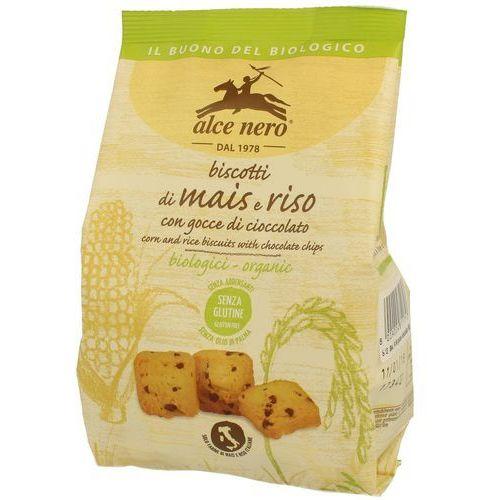 Ciastka kukurydziano-ryżowe z czekoladą bezglutenowe bio 200 g - alce nero marki Alce nero (włoskie produkty)