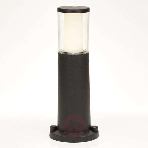 Czarna lampa cokołowa carlo, wysokość 40 cm marki Fumagalli