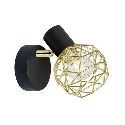 Acrobat lampa kinkiet 1x40w e14 czarny klosz złoty marki Candellux