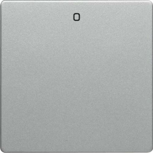 """Berker q.1/q.3 klawisz z nadrukiem """"0"""" do łącznika 1-klawiszowego, alu aksamit, lakierowany 16226084"""