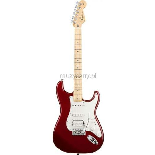 standard stratocaster hss candy apple red gitara elektryczna, podstrunnica klonowa wyprodukowany przez Fender