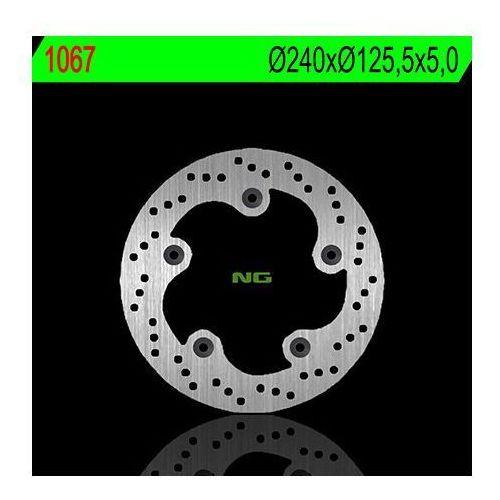 NG1067 TARCZA HAMULCOWA KYMCO XCITING 250/300/500 (240X125,5X5) (5X10,5MM)
