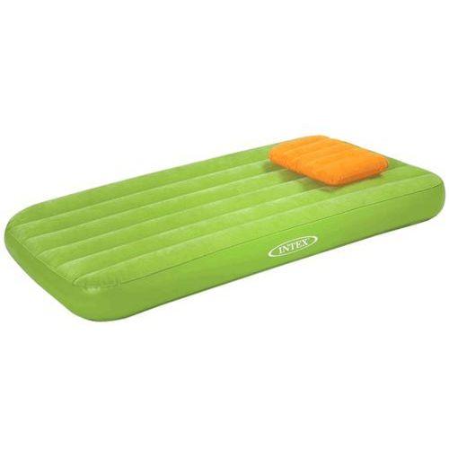 Materacyk welurowy dla dziecka z poduszką zielony 90 x 160 x 20 cm INTEX 66801