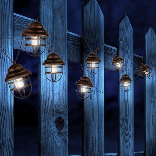 Solarny łańcuch świetlny lina z 8 latarniami marki Globo