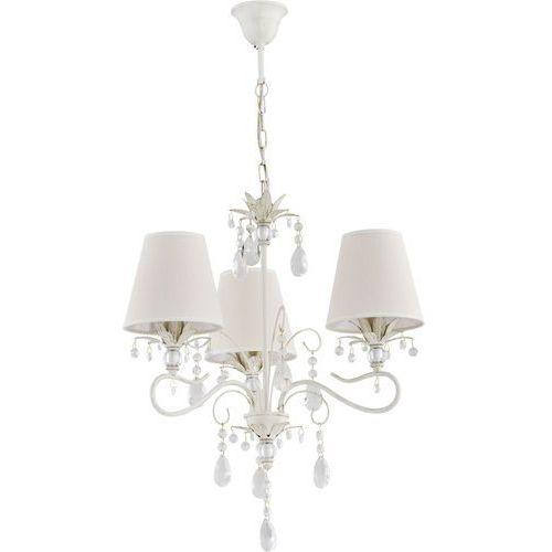 Alfa Lampa wisząca zwis żyrandol lukrecja 3x40w e14 biały, złoty, ecri 21063 >>> rabatujemy do 20% każde zamówienie!!!