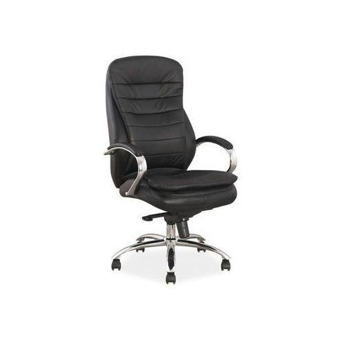 Fotel obrotowy, krzesło biurowe Q-154 czarny, skóra, Q-154 BKS
