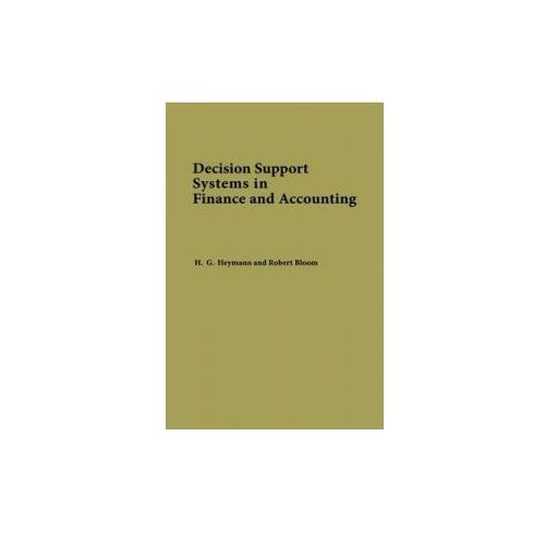 Decision Support Systems in Finance and Accounting (9780899302690)