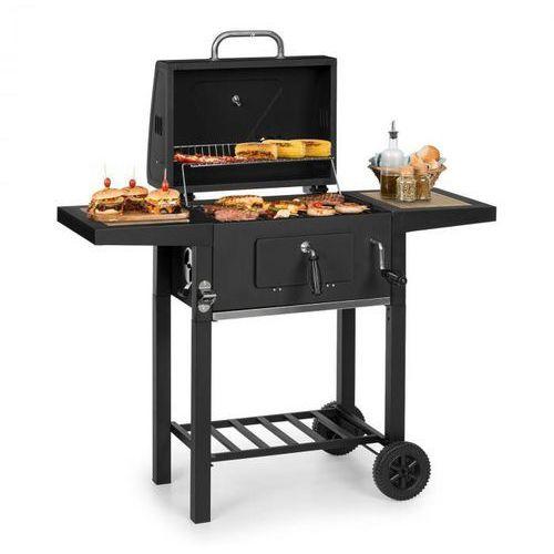 Klarstein meat machine, grill na węgiel drzewny, 45 x 32,5 cm, termometr, kółka, czarny (4060656225628)