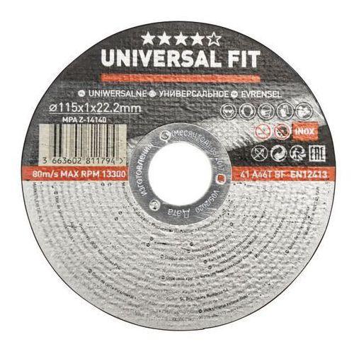 Tarcza do cięcia metalu inox 115 x 1 mm marki Universal