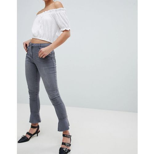 Parisian Skinny Jeans with Flare Hem - Grey