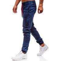 Spodnie jeansowe joggery męskie granatowe Denley Y270, jeansy