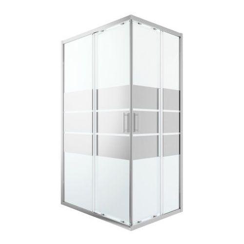 Cooke&lewis Kabina prysznicowa prostokątna beloya 80 x 120 cm chrom/szkło lustrzane (3663602944683)