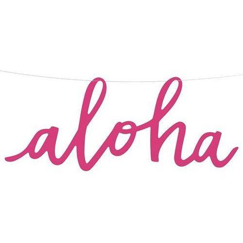 Hawajski baner Aloha na żyłce - 19 x 47 cm - 1 szt. (5902230729278)