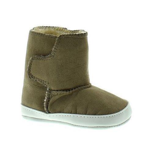 Apawwa Buciki zimowe dla dzieci y121 - brązowy