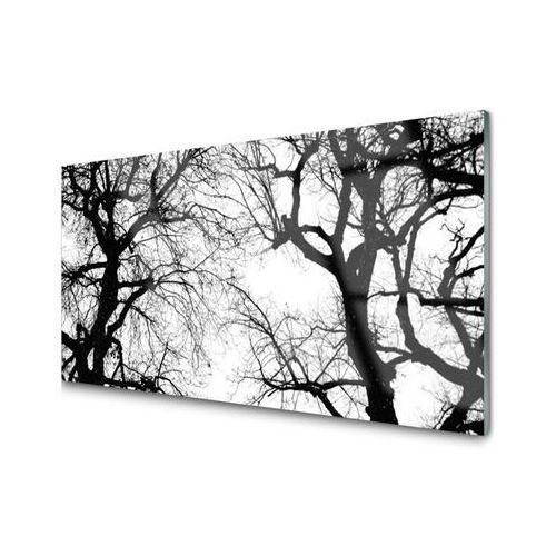 Tulup.pl Obraz szklany drzewa natura czarno-biały