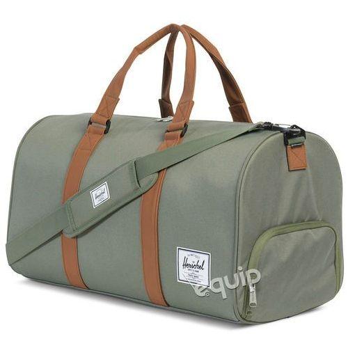 Torba  novel duffle - deep lichen green/tan synthetic leather marki Herschel