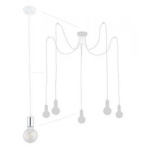 Lemir Maris O2755 W5 BIA + CH lampa wisząca zwis pająk 5x60W E27 biały mat / chrom (5902082868392)