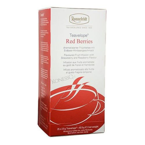 Owocowa herbata  teavelope red berries 25x2,5g marki Ronnefeldt