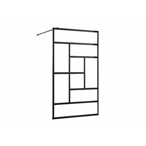 Ścianka prysznicowa w industrialnym stylu sefana - 120x200 cm - kolor czarny marki Shower design