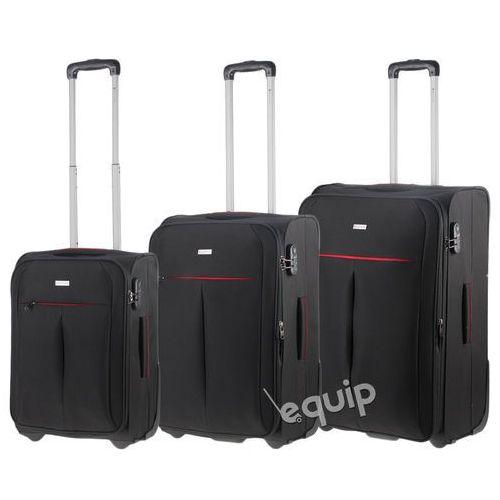 Zestaw walizek  latina - czarny, marki Puccini