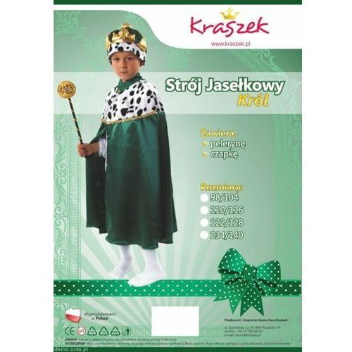 Strój Król Zielony -przebrania/kostiumy - 110/116