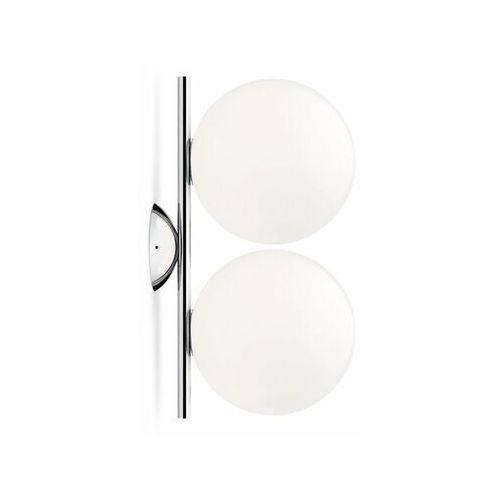 Ic-kinkiet ścienny lub plafon 2-punktowy metal/szkło marki Flos