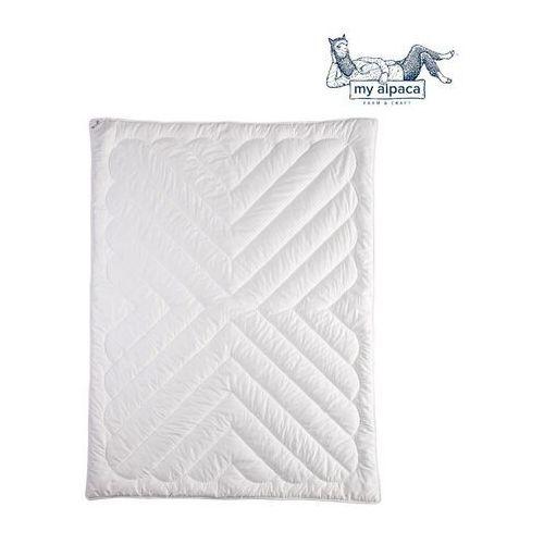My alpaca Kołdra z włókna alpaki letnia , rozmiar - 140x200, kolor - biała lamówka wyprzedaż, wysyłka gratis, 603-671-572