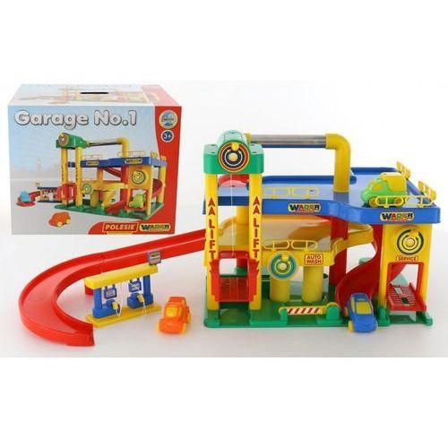 Wader-polesie Garaż nr1 z samochodami pudełko (4810344037824)