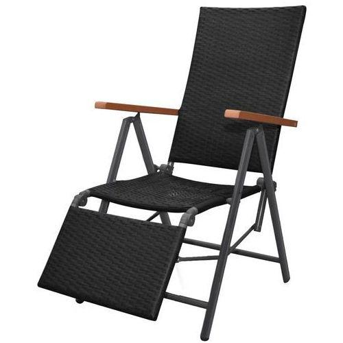 rozkładane krzesło polirattanu, brązowe, 55 x 68 x 107 cm marki Vidaxl