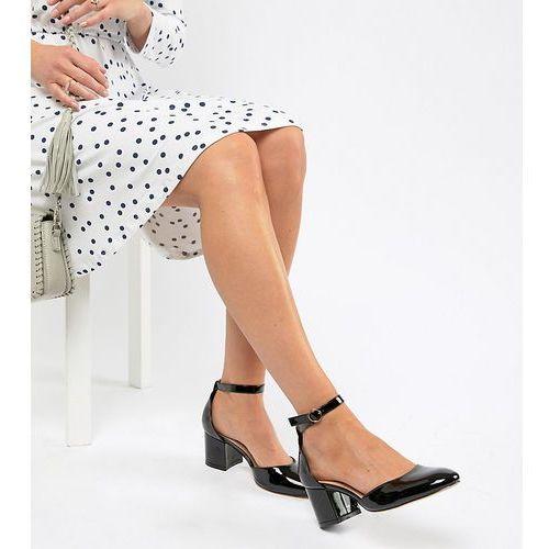 wide fit mid block heels - black marki London rebel