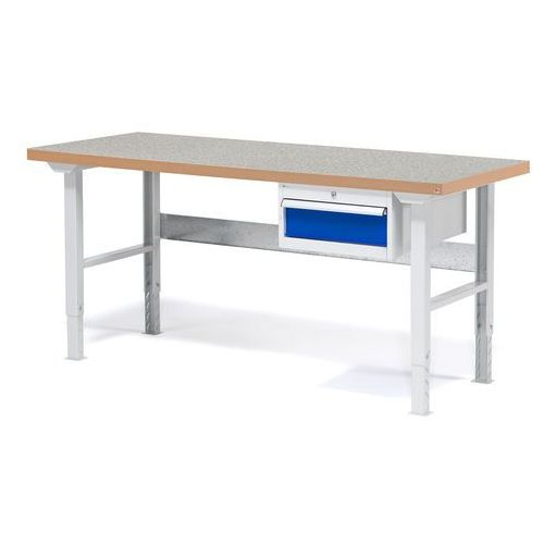 Stół warsztatowy SOLID, z szufladą, 500 kg, 1500x800 mm, winyl