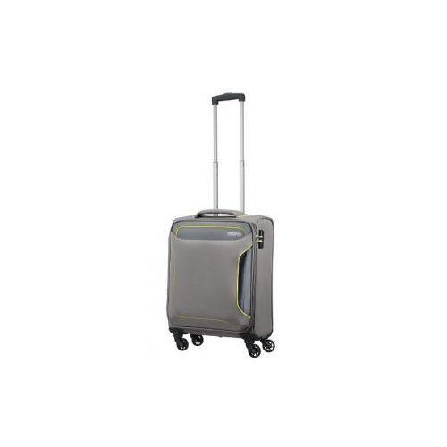 Holiday heat walizka mała/ kabinowa miękka 4 koła firmy materiał poliester zamek szyfrowy tsa marki American tourister