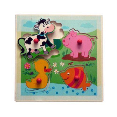 Hess drewniana układanka dla dzieci zwierzątka (4016977154024)