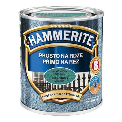 Farba Prosto Na Rdzę - Efekt Młotkowy Zielony 0,7L Hammerite, 5EMHA.ZIE0.7