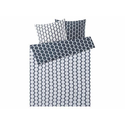 Meradiso® pościel satynowa 220 x 200 cm, 1 komplet (kropki/geometryczne) (4056233899627)