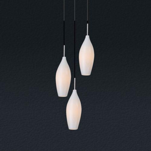 Lampa wisząca champagne 3 x e14 biała bzl, md2101a-3w marki Zuma line
