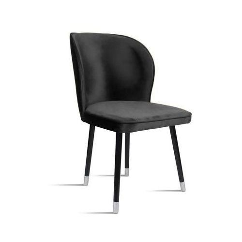 Krzesło rino ciemny szary/ noga czarny silver/ tr15 marki B&d