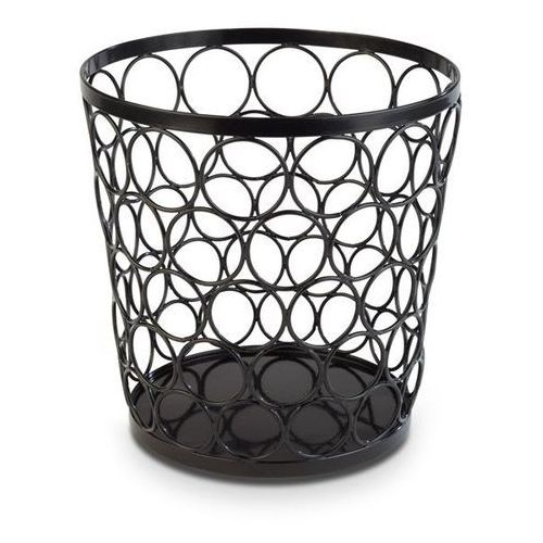 Aps Koszyk okrągły metalowy 210mm | czarny
