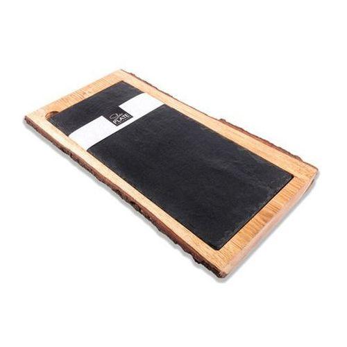 Talerz w drewnianej oprawie z łupku marki Fine dine