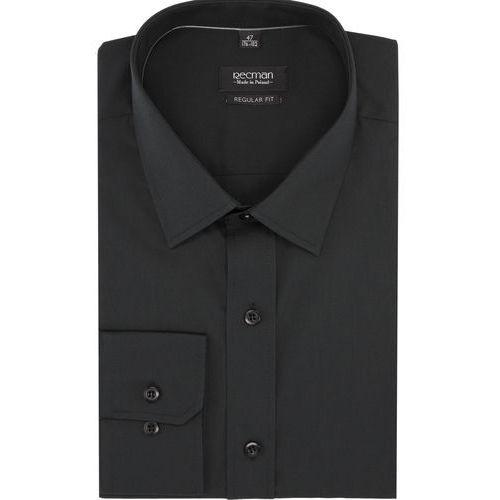 Koszula versone cod4 długi rękaw regular fit czarny, Recman